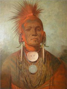 See-non-ty-a, an Iowa Medicine Man, 1845 - George Catlin