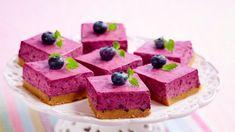 Blåbærostekake - Oppskrift fra TINE Kjøkken No Bake Cake, Tin, Food Photography, Cheesecake, Food And Drink, Frisk, Sweets, Bread, Snacks
