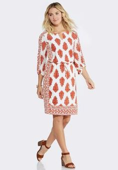 e747dc66f2fd4 Cato Fashions Paisley Blouson A-Line Dress-Plus  CatoFashions Paisley Dress