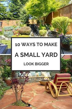 Theres a lot you can do with a small yard but you need to know how to design and plan for your space. Here are some ideas for landscaping, furniture arranging, and planning your backyard so you can make the most of your great outdoors. - My Backyard Now Small Yard Landscaping, Landscaping Supplies, Landscaping Tips, Backyard Ideas For Small Yards, Small Backyard Patio, Landscaping Software, Small Garden Plans, Tiny Garden Ideas, Terraced Backyard
