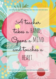 El maestro te toma de la mano, abre tu mente y toca tu corazón. ¡Feliz día del…