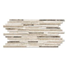 marblesystems - Milano Dark Polished Mosaic Modern Bamboo Blend - Natural marble mosaic tile that can be used on floors and walls. Made in Turkey.