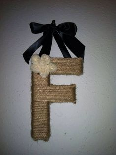 Twine Initial Decor -  - Come Find me on Facebook - Specially Made For You