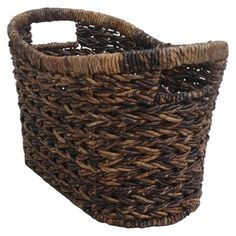 Target Home Alicia Magazine Basket. Could use for extra towels &/or toilet paper on a shelf above toilet
