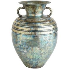 Pier 1 Imports Turquoise Patina Mosaic Vase ($45) ❤ liked on Polyvore featuring home, home decor, vases, decor, fillers, props, backgrounds, turquoise home decor, hand vase and turquoise home accessories