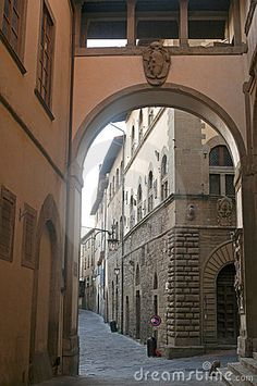 old street in Arezzo