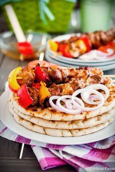 Grilled pork (greek souvlaki)