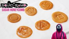 SQUID GAME SUGAR HONEYCOMB   You will be addicted! Squid Game inspired Sugar Honeycomb [2Ingredient] - YouTube Squid Games, Honeycomb, Addiction, The Creator, Sugar, Candy, Snacks, Desserts, Inspired