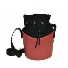 O basket ciliegio borsa con sacca e tracolla regolabile