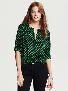 Bold Dot Blouse--I like the color and the way this blouse drapes.