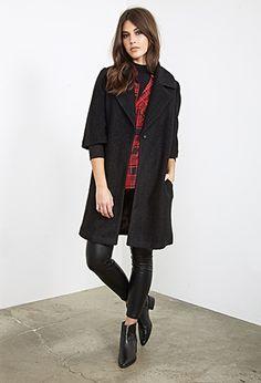 Textured Wool-Blend Overcoat