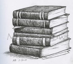 pile of books drawing - Google Search