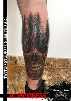 Totenkopf mit Wald / Skull with forest / IN PROGRESS