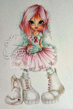 And that's all she wrote: Honey Thinks Pink for Awareness Copic recipe: Hair: RV10,R83,V95, BG1 (SN) Shirt: BG10, BG70, 0 Skin: E21,E13,E000 Skirt: RV10,R83,RV91,E70,RV000 Shoes: E40,R83,R85,0 Bunny: RV1O,V95,E40,R20,E70