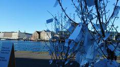 Copenhague. Art contemporain. Yoko Ono . Make à wish. Copenhague