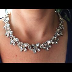 """Necklace on sale later w/ matching earrings Beautiful leaf design in a silver setting. Total length 15"""" with a 2.5"""" extender.  Additional pics and questions answered upon request. Bedecked & Bedazzled Jewelry Necklaces"""