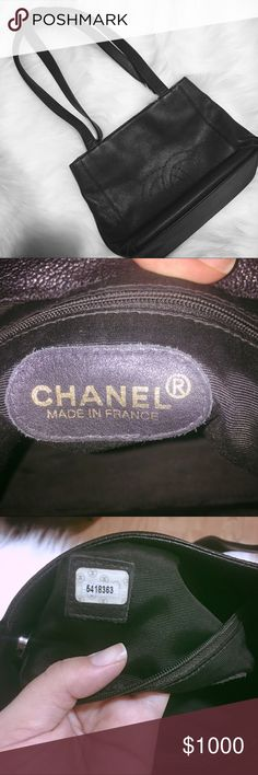 Vintage Chanel bag caviar leather This vintage bag still in good condition, no marks no stains Two zipper inside CHANEL Bags
