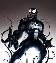 Venom by Bonkowski Marvel Venom, Marvel Vs, Tom Hardy, Eddie Brock Venom, Venom Art, Marvel Tattoos, Western Comics, Iron Spider, Spider Man