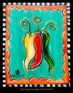 Chili Peppers Painting - Jackie Schon, The Paint Bar