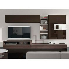 EXCLU Atylia.com #Meuble #TV #Design Gabriel - chocolat / noyer - Modules composables