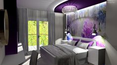 Ultraviola hálószoba Curtains, Modern, Home Decor, Blinds, Trendy Tree, Decoration Home, Room Decor, Draping, Tents