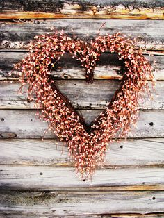 SWEETHEART PINK Berry Heart WreathGrapevine by WildRidgeDesign, $52.00