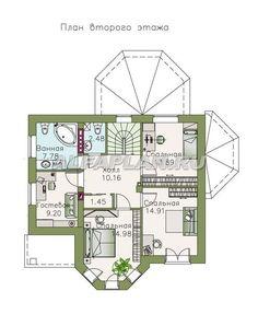 """🏠 """"Классика""""- двухэтажный особняк с эркером: цены, планировка, фото. Купить готовый проект Catalog, Floor Plans, Diagram, Room, Yandex, Plants, Bedroom, Brochures, Rooms"""