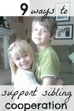 ways to promote sibling cooperation
