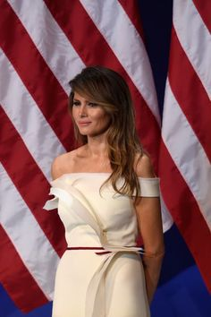 Update: The Designer Of Melania Trump's Inauguration Gown Speaks Out+#refinery29