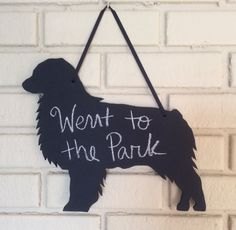 Beautiful, handmade, chalkboard wall decoration - perfect for your kitchen or entryway! This is a Australian Shepherd Cattle Dog design