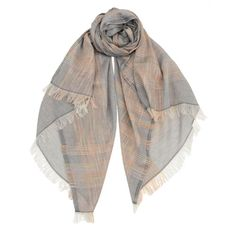 Misty! Eye-catching lightweight tie-dye wrap is accented with colorful stitching to create notable stripes for a trendy and fun look. Color : Storm Gray, Serengeti Beige