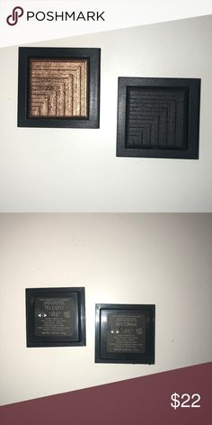 NARS Dual Intensity Eyeshadow Singles 2 pack A collection of duo eyeshadows in a new formula that delivers high-impact color in a single stroke. Bronze Eyeshadow, Makeup Eyeshadow, Nars Dual Intensity Eyeshadow, Shades Of Black, Eyeshadows, Popular Pins, Swatch, Frame, Matte Black