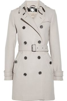 Burberry Brit | Double-breasted wool-blend coat | NET-A-PORTER.COM
