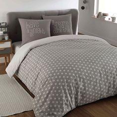 Kimono - Parure da letto grigia in cotone 220 x 240 cm