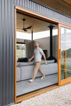 Wistow House by Mountford Williamson Architecture (via Lunchbox Architect) House Cladding, Casas Containers, Clerestory Windows, Shed Homes, Steel House, Garden Office, Cabana, Living Area, House Plans