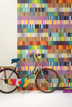 great quilt inspiration in this wallpaper in the Stripes Only collection by Eijffinger.