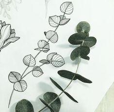 - - tattoo designs ideas männer männer ideen old school quotes sketches Hawaiianisches Tattoo, Tatoo Henna, Tattoo Flash, Tattoo Fonts, Plant Sketches, Flower Sketches, Drawing Flowers, Plant Drawing, Painting & Drawing