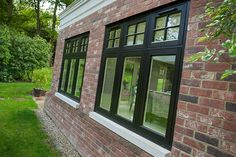 Browse our range of casement windows available in uPVC, timber and aluminium. Find your window here! Timber Windows, Black Windows, Casement Windows, House Windows, Aluminium Windows, Home Exterior Makeover, Exterior Remodel, Exterior House Colors, Exterior Design