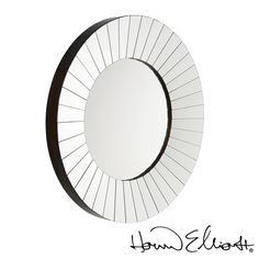 Roulette Mirror features mirrored panels on pitched silver leaf with black patina over wood frame. #roundmirror #howardelliott  http://www.allmodernoutlet.com/howard-elliott-roulette-mirror/?page_context=search&faceted_search=0