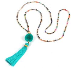 boho jewelry on sale at reasonable prices, buy Shinus Boho Necklace Women Jewelry Collier Chain Pompon Long Statement Necklaces Colorful Crystal Beaded Tassel Summer Strand from mobile site on Aliexpress Now! Diamond Choker Necklace, Boho Necklace, Fashion Necklace, Boho Jewelry, Women Jewelry, Pendant Necklace, Statement Necklaces, Long Necklaces, Turquoise Necklace