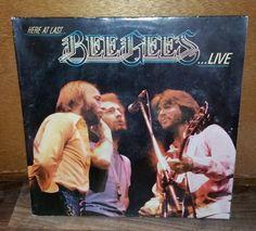 Bee Gees Here at Last Live Vintage Vinyl Record