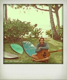 I hope one day I will make music and surf and get payed for it... One day