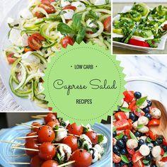 12 Low Carb Caprese Salad Recipes - gluten free, grain free, keto, THM