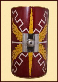 Legionársky scutum s oceľovým umbo Year 3 Classroom Ideas, Imperial Legion, Roman Shield, Roman Sword, Shield Of Faith, Helmet Armor, Roman Legion, 6th Grade Art, Greek Culture