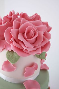 Gumpaste rose tutorial.