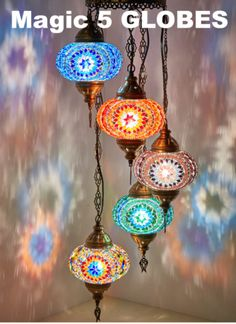 DEMMEX Turkish Moroccan Mosaic Hardwired OR Swag Plug in Chandelier Light Ceiling Hanging Lamp Pendant Fixture, 5 Big Globes X 7 Living Room Light Fixtures, Pendant Light Fixtures, Living Room Lighting, Pendant Lights, Moroccan Lighting, Moroccan Lamp, Boho Lighting, Moroccan Style, Morrocan Fashion