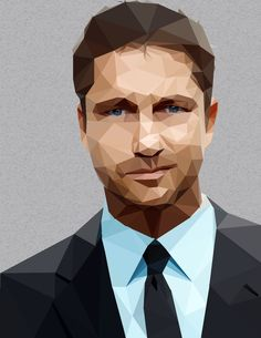 Gerard Butler Low Poly Portrait