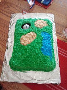 golf themed cake....super easy