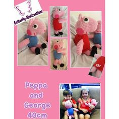 Crochet Peppa and George Pig