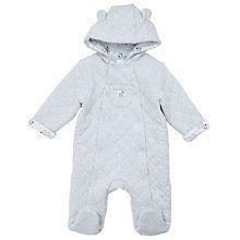 Buy John Lewis Baby Quilted Zebra Pramsuit, Grey Online at johnlewis.com